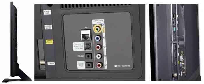 Телевизор Samsung UN48JU6500. боковая и задняя панели