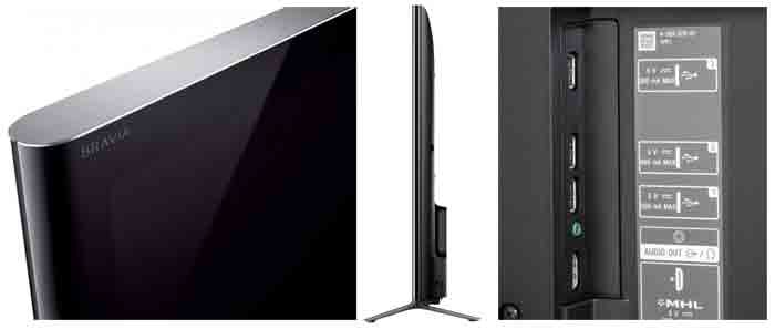 телевизора Sony XBR65X950B. Ракурс