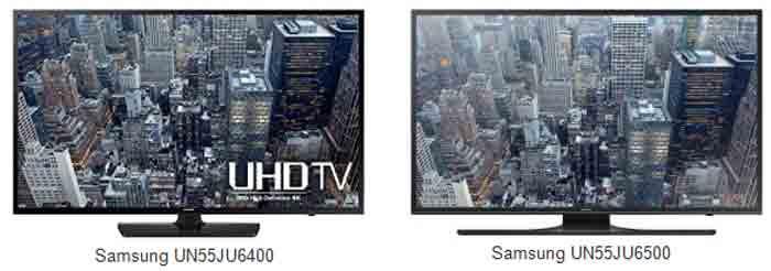 Samsung UN55JU65400 vs UN55JU6400. Таблица характеристик