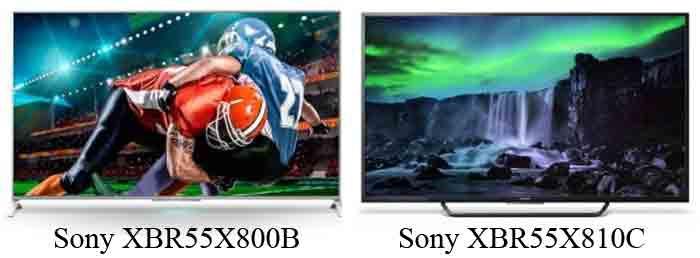 Sony XBR55X800B и Sony XBR55X810C. Обзор. Отличия