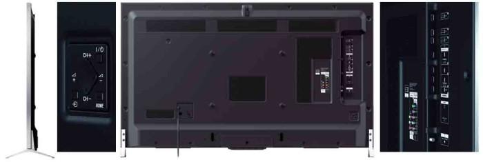 телевизор Sony XBR65X800B. Коммутация и ракурс