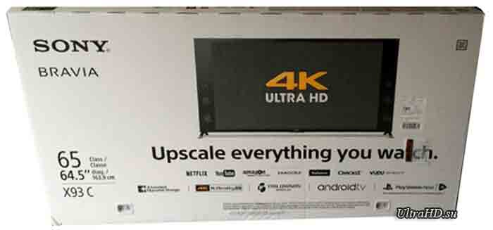 телевизор Sony XBR-65X930C. Упаковка