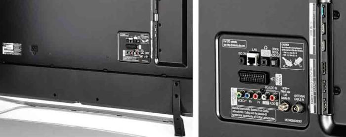 Телевизор LG 65UF850V 4K LED. задняя панель