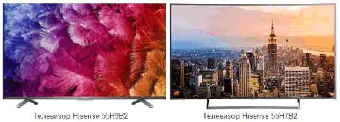 Телевизор Hisense 55H7B2 и Hisense 55H9B2. Обзор, отличия