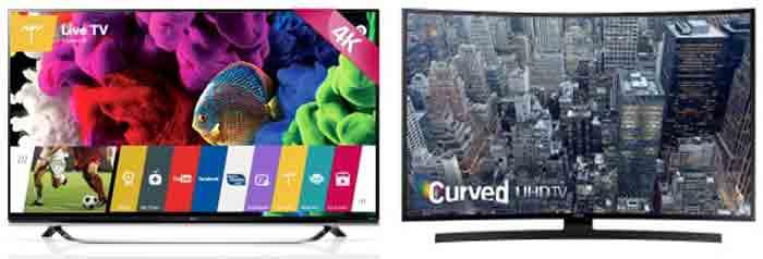 LG 65UF8500 vs Samsung UN65JU6700. Характеристики. Отличия