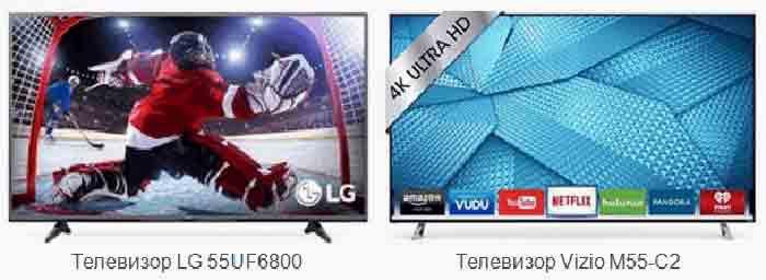 Телевизор LG 55UF6800 vs Vizio M55-C2. Разница
