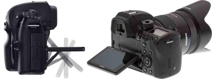 Samsung NX1 - наклонный тачскрин