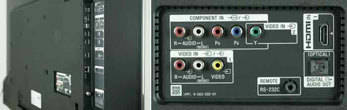 Телевизор Sony X850D комутация
