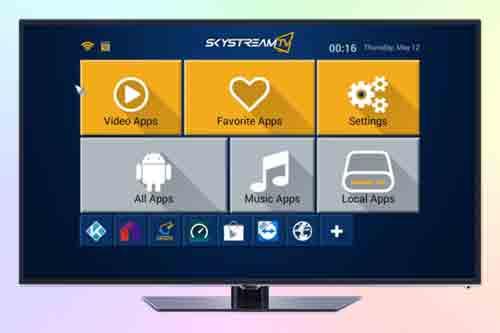 Проигрыватель SkyStream X4 Рабочее меню