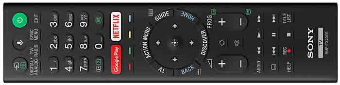Sony KD-55SD8505 и Sony KD-65SD8505 пульт ДУ