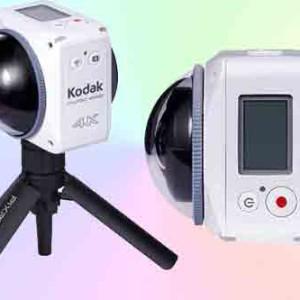 Экшн-камера Kodak 4KVR360 для панорамной видеозаписи