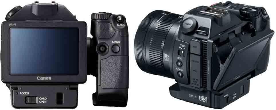 Canon XC15 дисплей