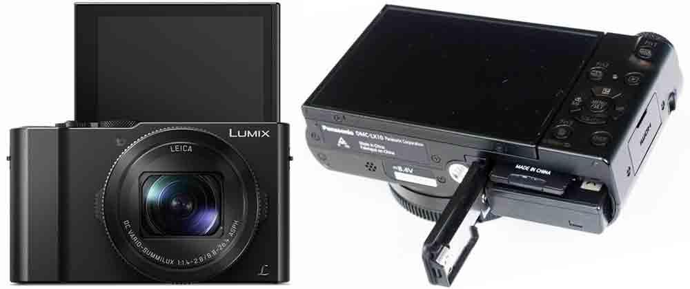 Panasonic LX15 задний отсек
