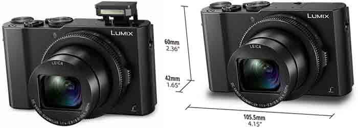 Panasonic LX15 размеры