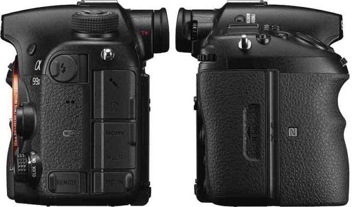 Sony A99 II левый и правый бок