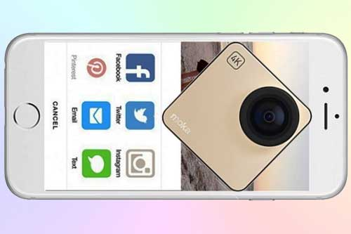 Mokacam Alpha S миниатюрная 4K экшн-камера