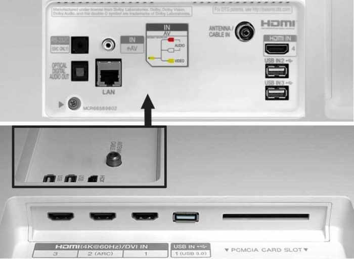 LG C7V интерфейсы