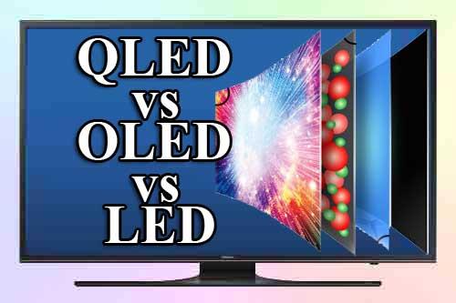 QLED, OLED, LED: отличия