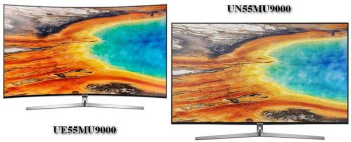 Отличия между UE55MU9000 и UN55MU9000