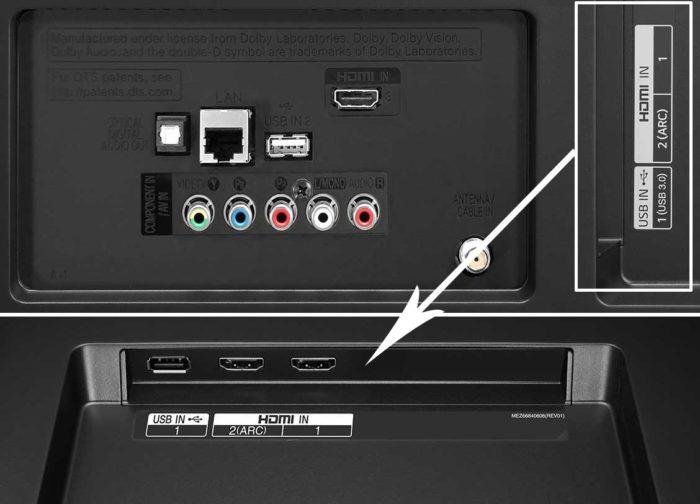 LG UJ630V Подключения