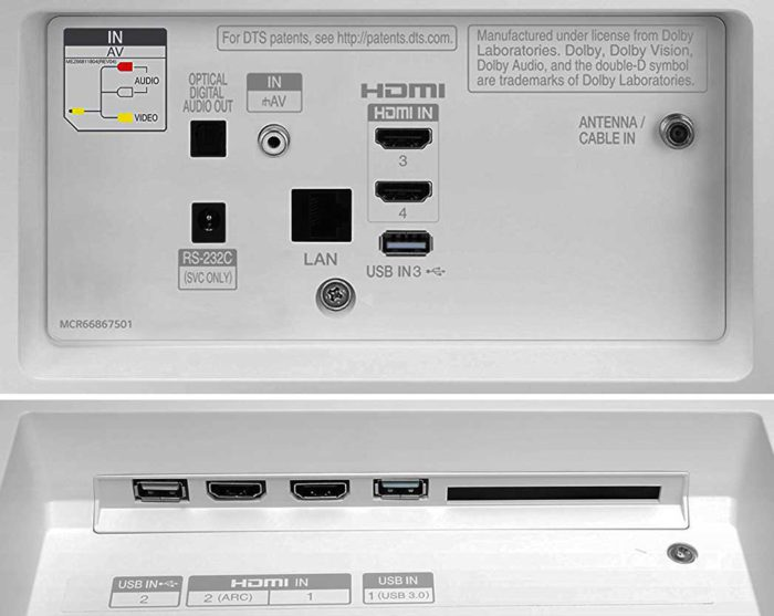 LG B7V интерфейсы
