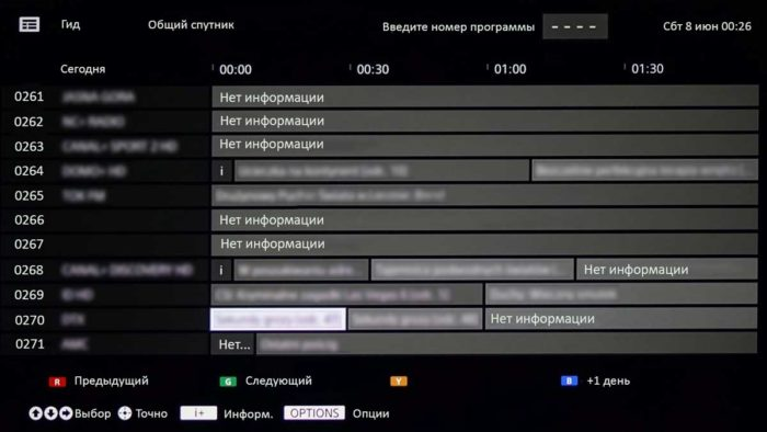 ТВ интерфейс смарт тв от сони xe7005