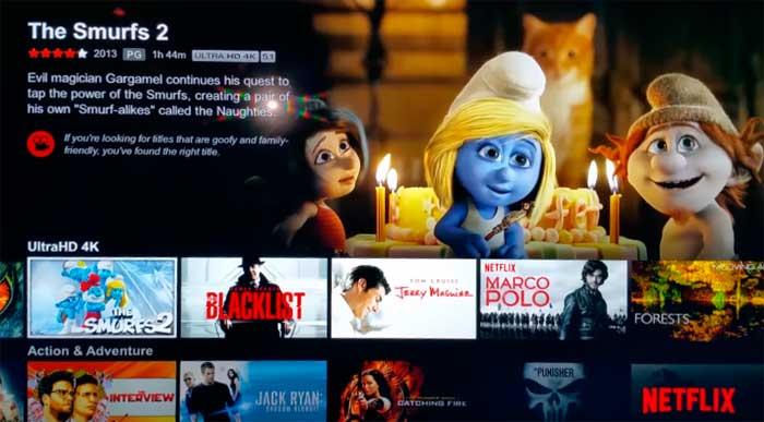Просмотр 4К с Netflix