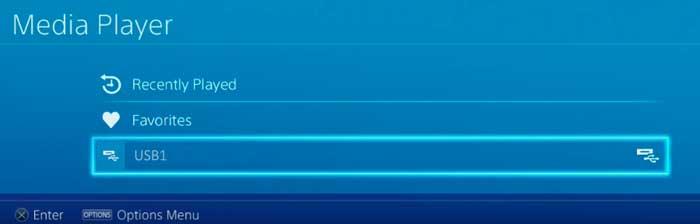 Просмотр 4К видео на PS4 Pro через USB