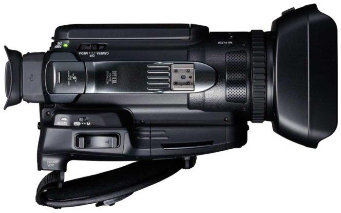 Canon Legria GX10 верхнее управление