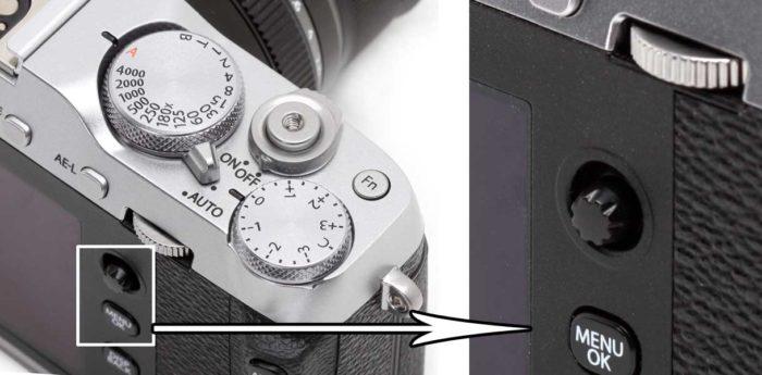 Fujifilm X-E3 управление