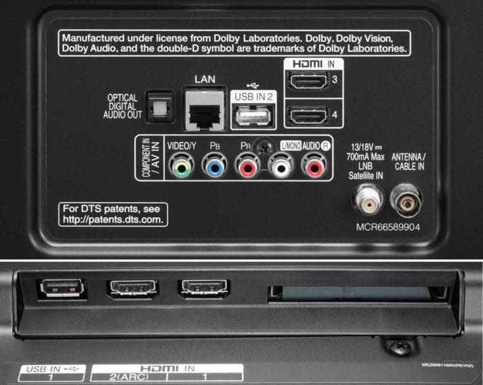 LG UJ670V подключения