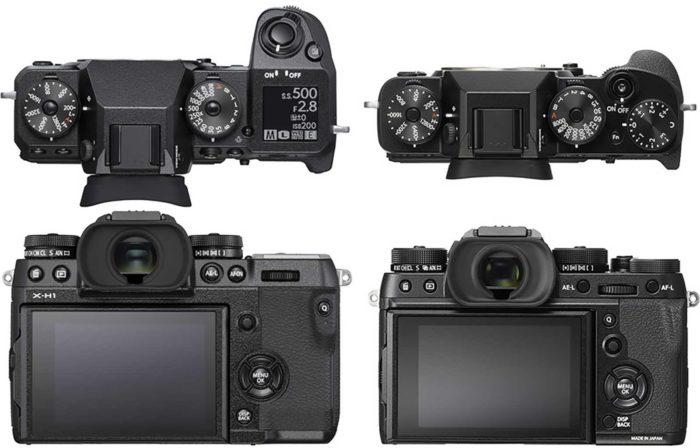 Fujifilm X-H1 и X-T2 отличия