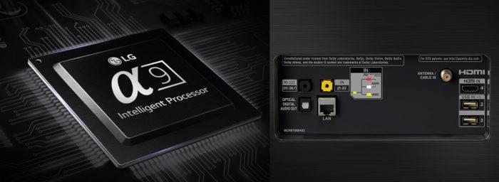 LG OLED65E8 интерфецсы