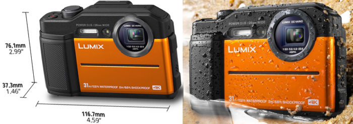 Panasonic Lumix DC-FT7 размеры