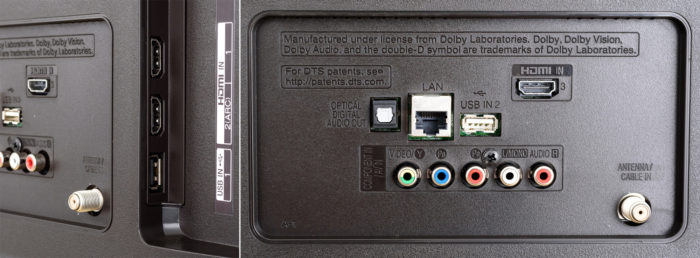 LG UK6100 интерфейсы