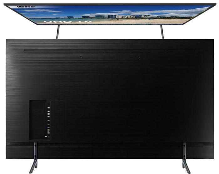Samsung NU7140U тыл и вид сверху