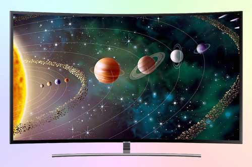 Samsung UE55NU8500U с изогнутым экраном (curved)