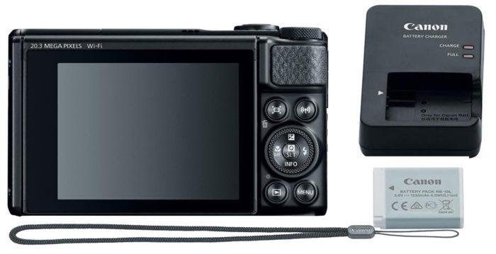 Canon PowerShot SX740 HS 4K дисплей и питание