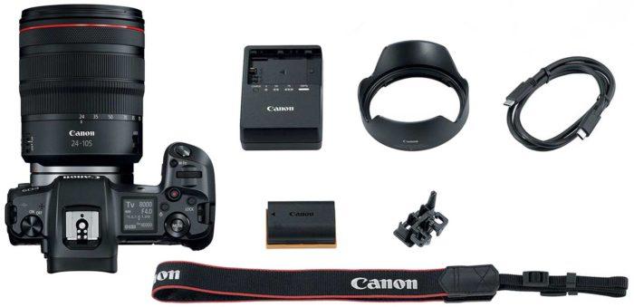 Фотоаппарат Canon EOS R комплектность