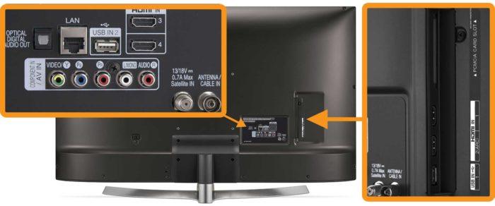 LG UK6550 интерфейсы