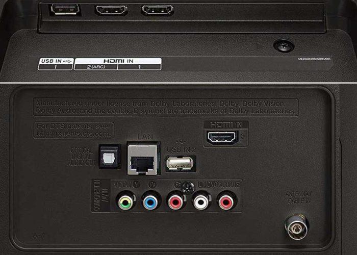 LG UK6470 интерфейсы