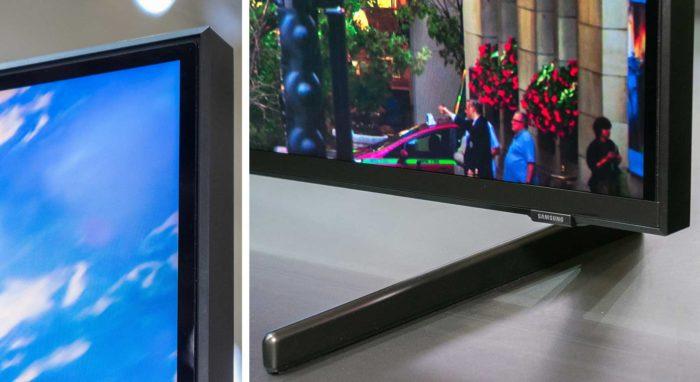 Samsung Q900R подставка и толщина экрана