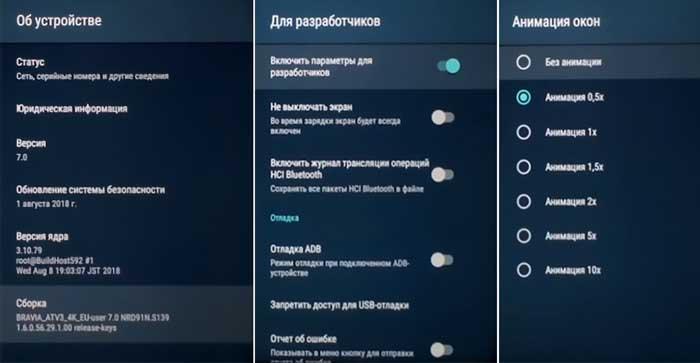 Настройка Андроид ТВ в режиме разработчика
