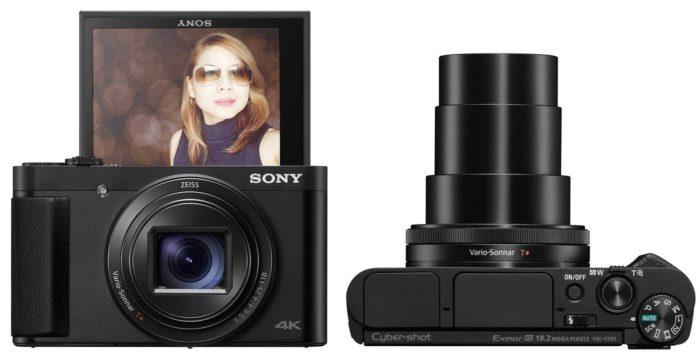 Sony Cyber-shot DSC-HX99 экран и объектив