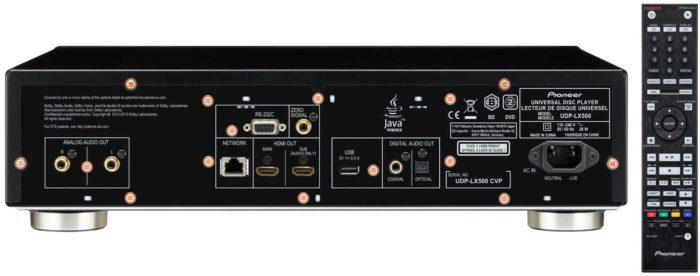 Pioneer UDP-LX500 интерфейсы