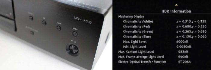 Pioneer UDP-LX500 управление