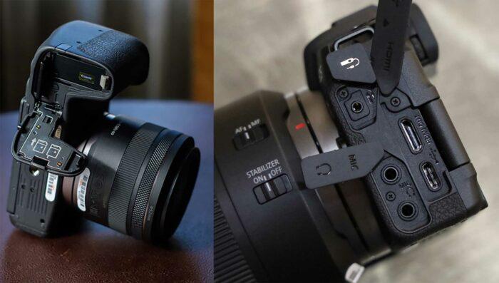 Фотоаппарат Canon EOS RP интерфейсы