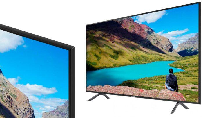 Samsung UE55RU7100U HDR 4K дизайн