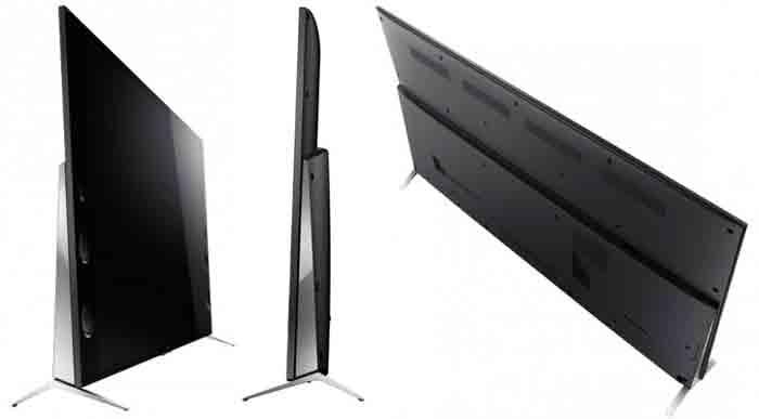 Телевизор Sony KD 75X9405C. Задний вид и вид сбоку