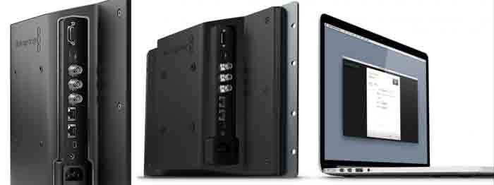 4K монитор Blackmagic SmartView. Боковая панель с разъемами